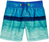 Sundek Ocean-Print Swim Trunks