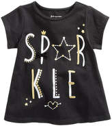 First Impressions Sparkle-Print Cotton T-Shirt, Baby Girls, Created for Macy's