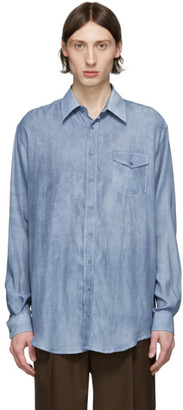 Schnaydermans Blue Oversized Faded Shirt