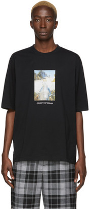 Marcelo Burlon County of Milan Black Holy Square T-Shirt