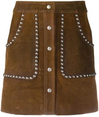 Golden Goose Artemide studded A-line skirt