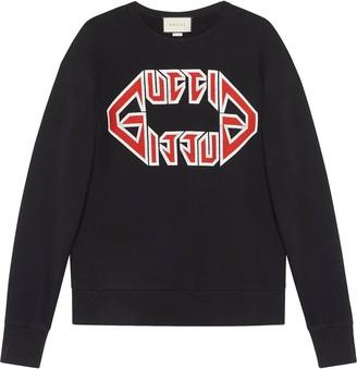 Gucci Cotton sweatshirt with metal print