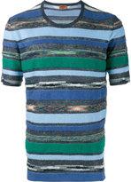 Missoni towelling stripe t-shirt - men - Cotton/Linen/Flax - 46