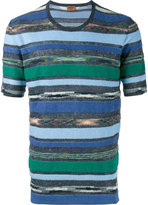 Missoni towelling stripe t-shirt - men - Cotton/Linen/Flax - 48