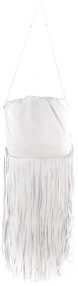 Bottega Veneta White Leather Fringe Pouch