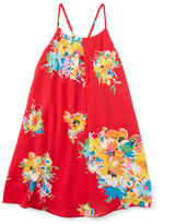 Ralph Lauren Floral Voile Racerback Shift Dress, Red/Yellow, Size 5-6X