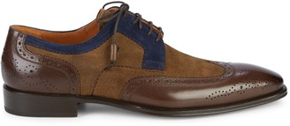 Mezlan Colorblock Leather & Suede Oxfords