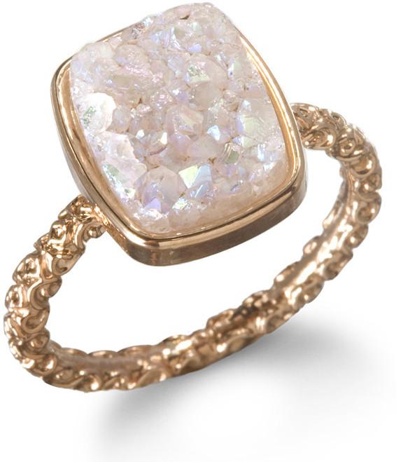Ettinger UK Dara Nadia Stackable Druzy Ring, Halo