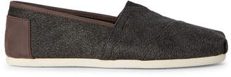 Toms Charcoal Classic Herringbone Slip-On Shoes