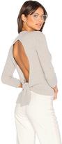 Autumn Cashmere Tie Back Crop Sweater