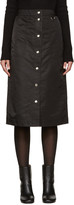 Nomia Black Nylon Button Skirt