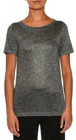 Missoni Sparkly Short-Sleeve Tee, Gunmetal