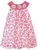 Little Lass Pink Leopard Bubble Dress - Girls newborn-24m