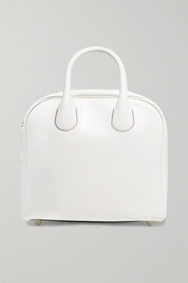 Christian Louboutin Marie Jane Small Appliqued Leather Tote - White