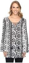 Roper 0804 Aztec Print Tunic Top