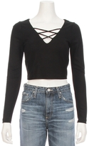L'Agence Ava Crop Lace Up Top