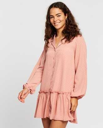 Atmos & Here Noelle Button Front Dress