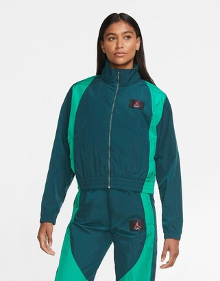 Jordan Nike Statement Essentials woven track jacket in teal
