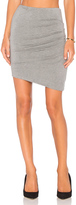 Heather Asymmetric Twist Skirt