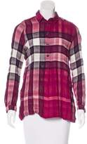 Burberry Virgin Wool-Blend Exploded Check Top