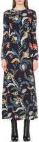 Maje Rousseau baroque-print crepe dress