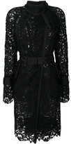 Sacai sheer lace trench coat