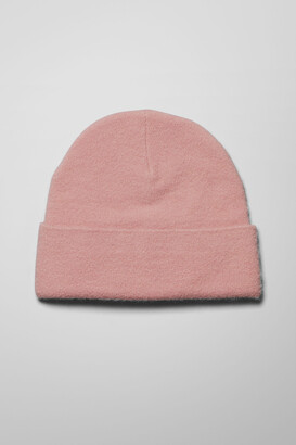 Weekday The Check Beanie - Pink
