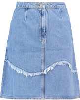 MiH Jeans Villa Frayed Denim Mini Skirt