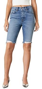 GRLFRND Beverly Slim Fit Bermuda Jean Shorts in New Song