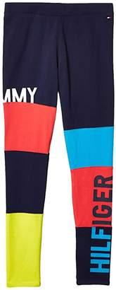 Tommy Hilfiger Adaptive Leggings with Elastic Waist (Little Kids/Big Kids) (Evening Blue) Women's Casual Pants