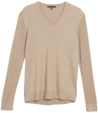 John Varvatos V-Neck Ribbed Knit Sweater