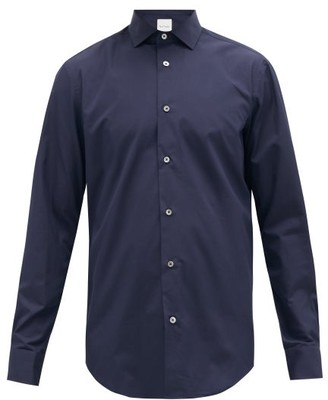 Paul Smith Artist-stripe Double-cuff Cotton Shirt - Mens - Navy