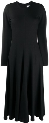 Jil Sander Knitted Flared Long Dress