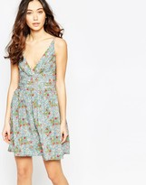 Iska Cami Dress in Mini Rose Print