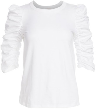 See by Chloe Ruched-Sleeve Tee