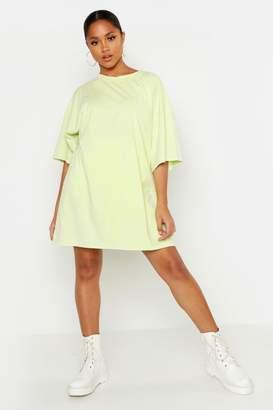 boohoo Washed Oversized T-Shirt Dress