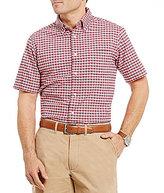 Daniel Cremieux Lightweight Washed Oxford Check Short-Sleeve Woven Shirt