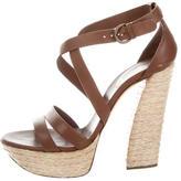 Casadei Platform Crossover Sandals