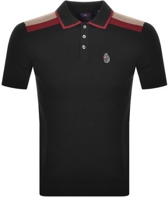 Luke 1977 Town Crier Knit Short Sleeve Polo Black
