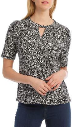 Regatta Zebra Print Keyhole Front Short Sleeve Tee