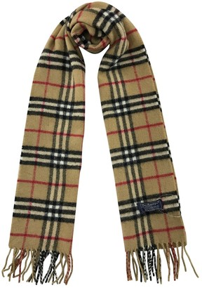 Burberry Camel Wool Scarves