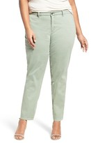 Sejour Plus Size Women's Stretch Cotton Ankle Pants