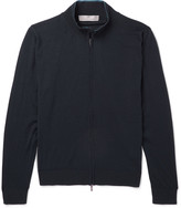 Canali - Mélange Wool Zip-up Sweater