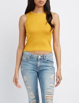 Charlotte Russe Racerback Cropped Tank Top