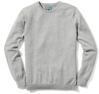 Tie Bar Perfect Merino Wool Crewneck Heather Grey Sweater