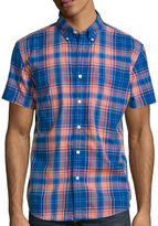 Arizona Short-Sleeve Plaid Poplin Shirt