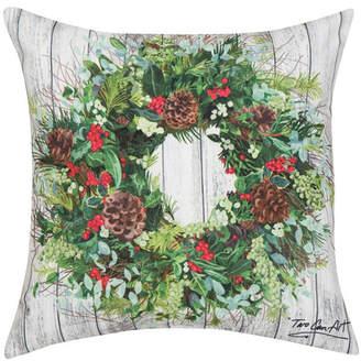 C&F Home C & F Home Christmas Wreath Indoor/Outdoor Pillow