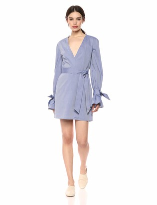 C/Meo Women's Unstoppable Vneck Longsleeve Short Mini Shirt Dress