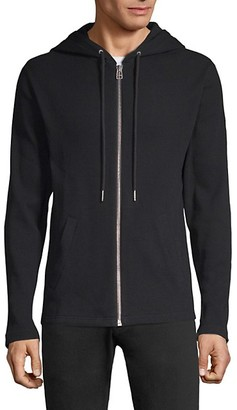 Helmut Lang Waffle-Knit Cotton Zip-Up Hoodie