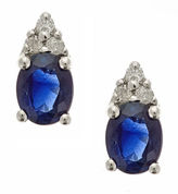 FINE JEWELRY LIMITED QUANTITIES! Diamond Accent Oval Blue Sapphire 10K Gold Stud Earrings
